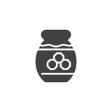 Honey jar food vector icon. filled flat sign for mobile concept and web design. Jar of honey simple glyph icon. Symbol, logo illustration. Pixel perfect vector graphics