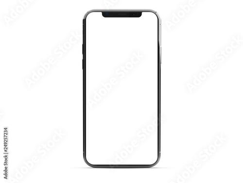 Leinwanddruck Bild Modern smartphone mockup isolated on white 3d rendering