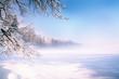 Winter  Scape Lakes of Bavaria Murnau