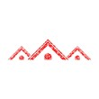 Flower roof icon, Red Roof icon - 249263608