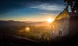 Coucher de soleil sur la Provence - Sud de la France