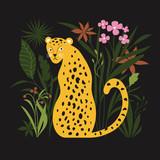 Jungle Leopard vector illustration - 249277676
