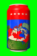 Leinwandbild Motiv 3D can with national flag of Canada in the form of relief country map on chroma key