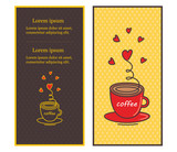 Title: Сafe menu design illustrated a cup of coffee. Vector illustration.