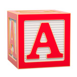 ABC Alphabet Wooden Block with A letter. 3D rendering - 249306684