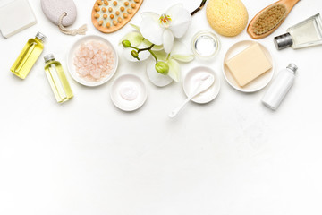 Spa natural cosmetic products background © fortyforks