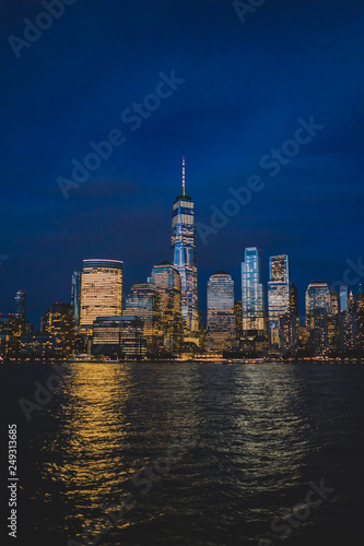Foto Murales New York night skyline.