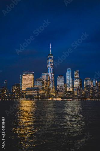 fototapeta na ścianę New York night skyline.
