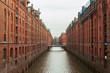 Leinwandbild Motiv Brooksfleet canal, Hamburg