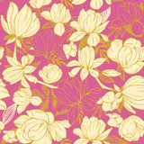 Seamless pattern with magnolia flowers. Vector illustration