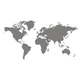 monochrome vector icon with world map