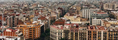 mata magnetyczna Panoramic view of Barcelona, Spain