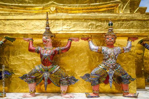 Leinwandbild Motiv Yaksha statue, Grand Palace, Bangkok, Thailand