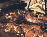 Crystallized Cicada on Golden Jewelry