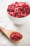 Dried pink peppercorn. - 249383687