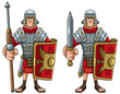 Roman Soldier on White - 249389033