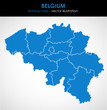 Belgium - highly detailed map.All elements are separated in editable layers. Vector illustration.  - 249399410