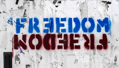 Freedom graffito