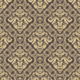 Orient classic brown and golden pattern. Seamless abstract background with vintage elements. Orient background - 249461272