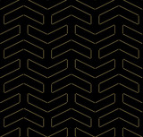Geometric pattern with golden dotted elements. Geometric modern ornament Seamless abstract background - 249461413