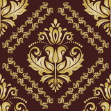 Orient classic golden pattern. Seamless abstract background with vintage elements. Orient background - 249461899
