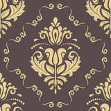 Classic seamless golden pattern. Damask orient ornament. Classic vintage background - 249462409