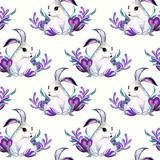 bunny easter pattern pastel seamless pattern
