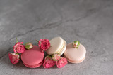 pink cakes on a plain background