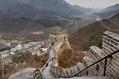The Great Wall of China. Great Wall of China is a series of fortifications made of stone, brick  © 12November