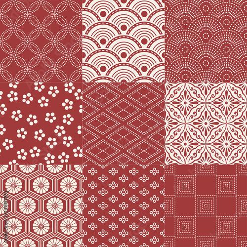 seamless japanese mesh lattice traditional pattern © kidstudio852