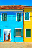 Multicolored houses in Burano