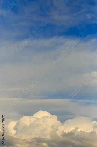 Clouds after rain before sunset as a background - 249511478