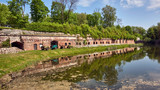 Russia. Kaliningrad. Fort number 5. Museum of the history of the Second World War. Right wall with embrasures - 249517052