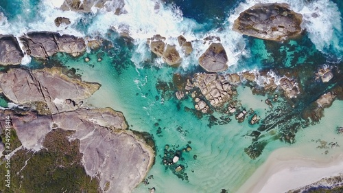 Aerial view of ocean and rocks © Jerry