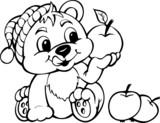 Miś z jabłkiem