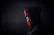 Quadro Hooded man in the dark