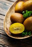 Fresh sweet gold kiwi