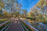 Wooden walkway in Moscow - 249588459