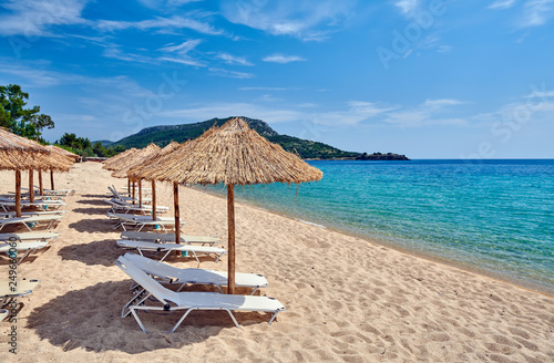Beautiful beach in Toroni, Greece - 249660060
