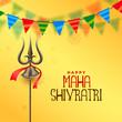 hindu festival maha shivratri greeting background