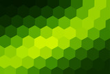 Green mosaic background, interesting hexagonal pattern  - 249676210