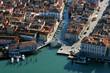 Leinwanddruck Bild - Italien, Chioggia, Luftbild, Übersicht