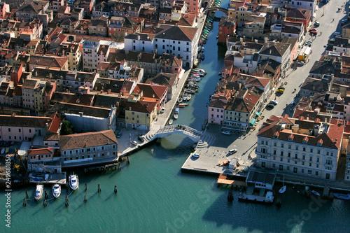 Leinwanddruck Bild Italien, Chioggia, Luftbild, Übersicht