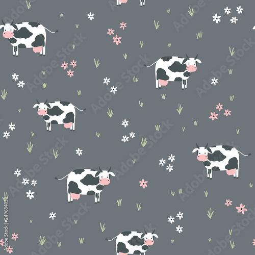 mata magnetyczna Seamless childish pattern with cows