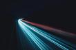 Leinwanddruck Bild - Daten-autobahn in der Nacht