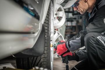 Auto Mechanic Wheel Change © Tomasz Zajda