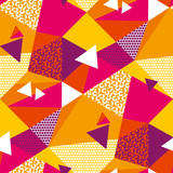 Abstract geometric shapes color seamless pattern - 249712629
