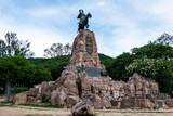 Salta/Salta/Argentina - 11/01/2019: Monument General Martin Miguel de Guemes