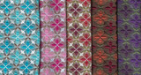 set of colored furniture fabrics