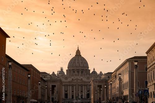 mata magnetyczna Basilica of San Pietro in Vatican, Rome.